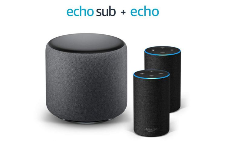 Amazon Echo Sub + 2 Echo